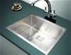 550x455mm Handmade 1.5mm Stainless Steel Kitchen Sink with Square Waste