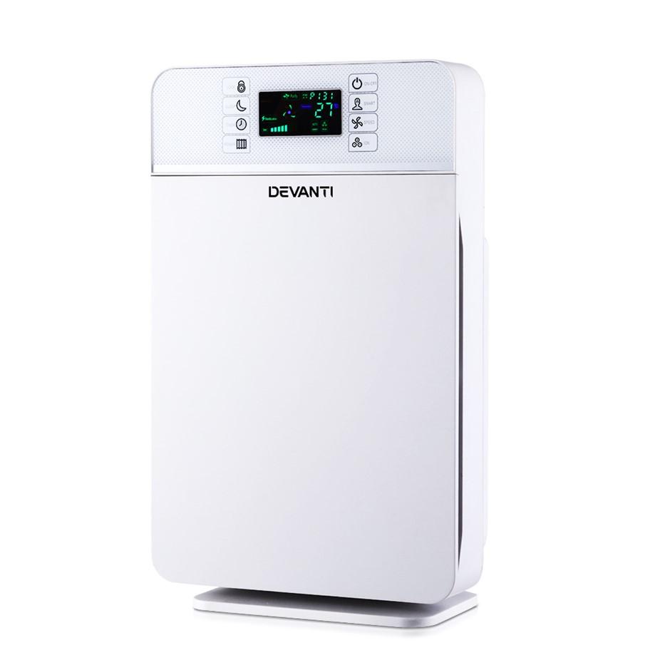 Devanti Air Purifier HEPA Filter 220m³/h CADR Home Freshener Ioniser