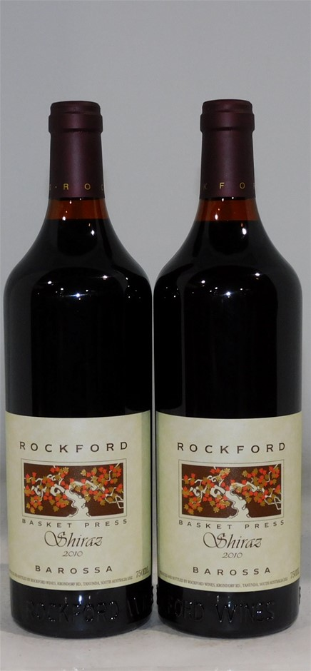 Rockford `Basket Press` Shiraz 2010 (2x 750ml), SA. Cork closure.