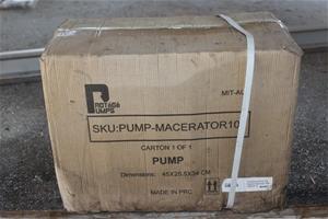 Pump Macerator still in Carton