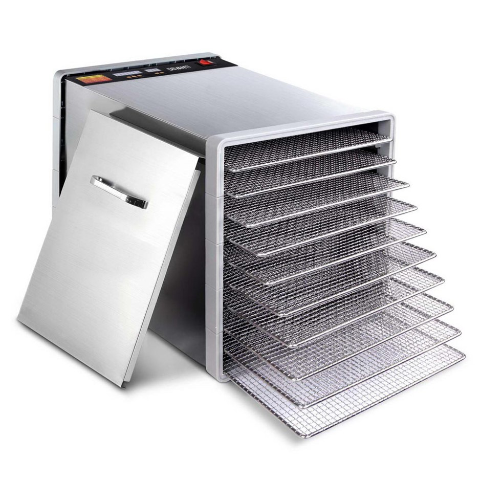 Devanti Stainless Steel Food Dehydrator with 10 Trays