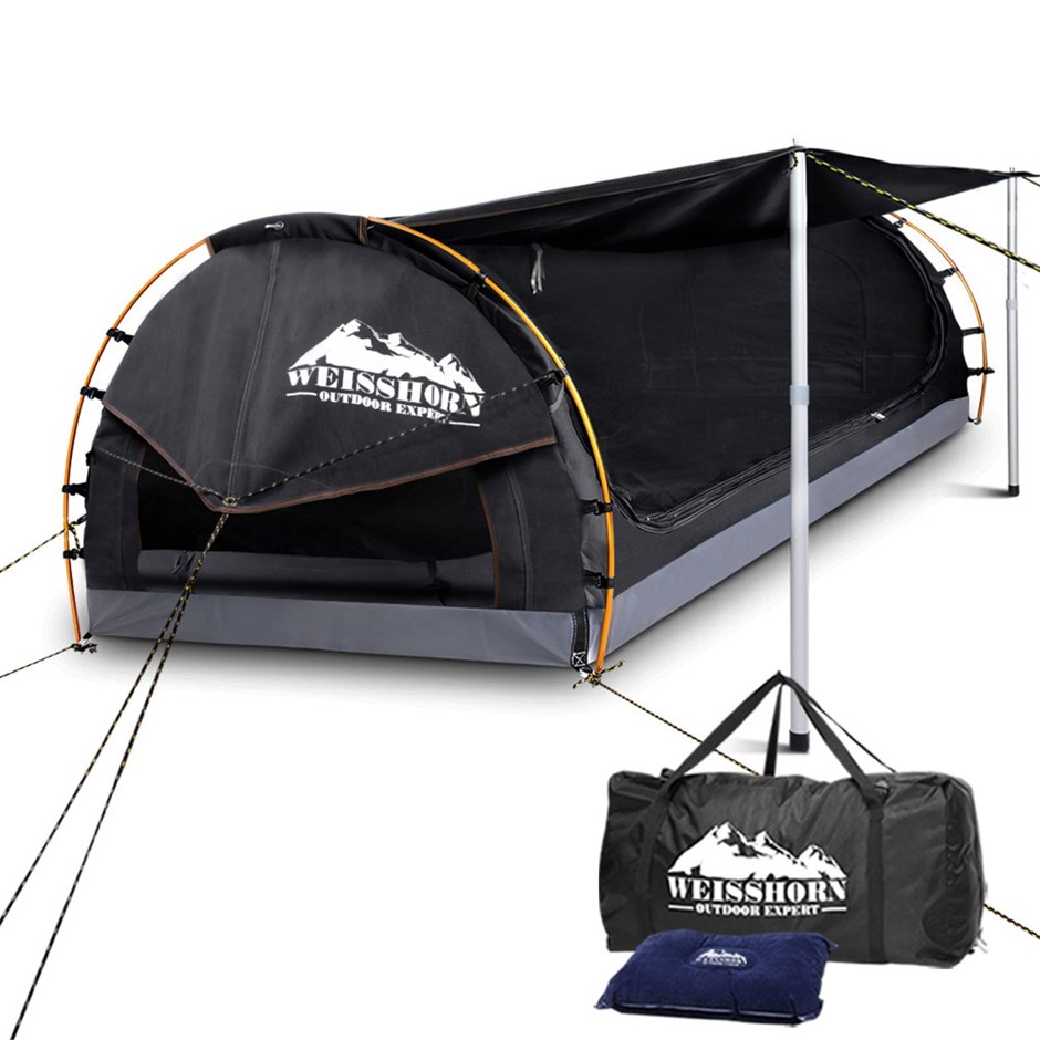 Weisshorn King Single Size Dome Canvas Tent - Dark Grey