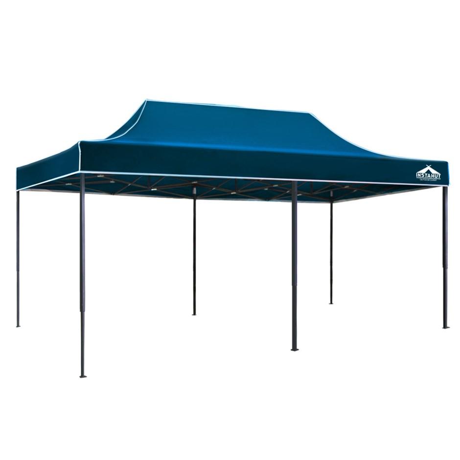 Instahut Pop Up Gazebo 3x6 Tent Folding Wedding Marquee Gazebos Sailor Blue