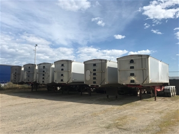 Barry Stoodley 25m B Double Grain Tipper Trailers