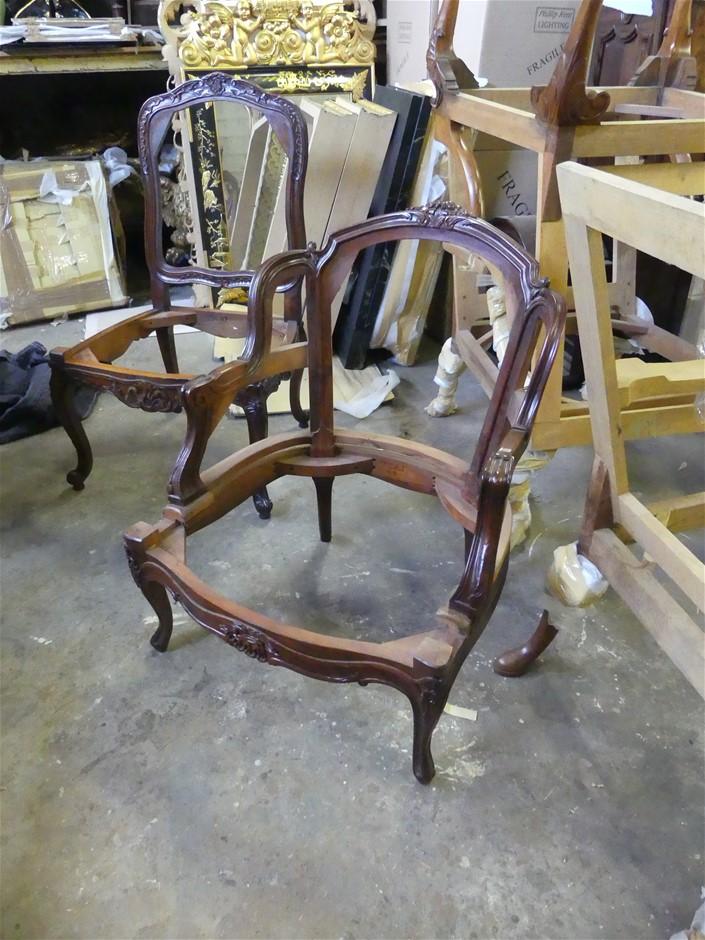 Qty 2 x French Armchair Frames