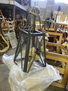 Qty 2 x Code 30 Large Iron Light Fitting