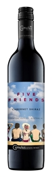 Five Friends Cabernet Shiraz 2016 (12 x 750mL) Central Ranges, NSW