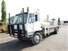 1986 Mitsubishi Flat Bed 4 x 2 Crane Truck