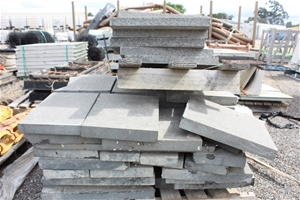 Pallet of Assorted Size Concrete Slabs