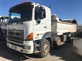 2012 Complianced Hino FY 700 8 x 4 Twin Steer Tipper Truck