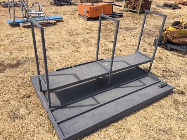 1 x Adjustable Steel Frame And Shelving Unit