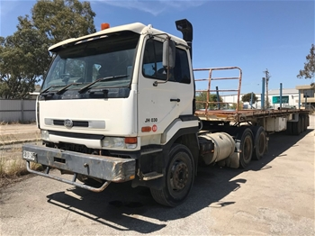 1999 Prime Mover Truck And Heavy Duty Triaxle Flat Top COMBO