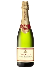 Grandin Méthode Traditionnelle Brut NV (6 x 750mL). Fra. Cork Closure.