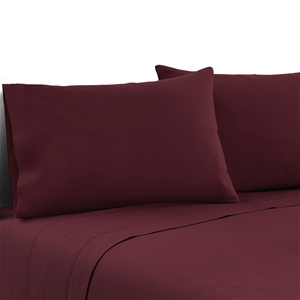 Giselle Bedding Queen Burgundy 4pcs Bed