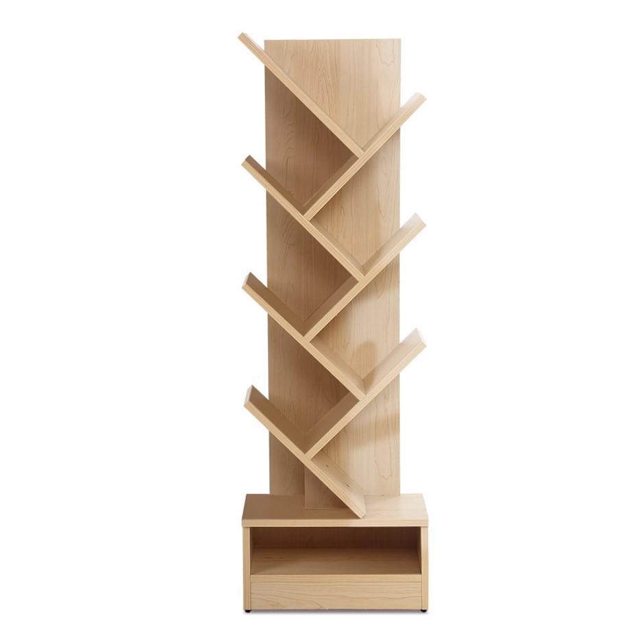 Artiss Display Shelf 7-Shelf Tree Bookshelf Book Storage Rack Natural