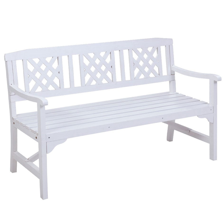 Gardeon Wooden Garden Bench 3 Seat Patio Furniture Outdoor Lounge Chair