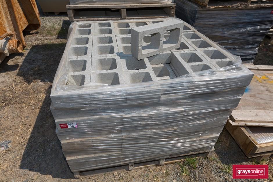 Qty 1 x Pallet x Hollow Concrete Brick Grey colour Ea