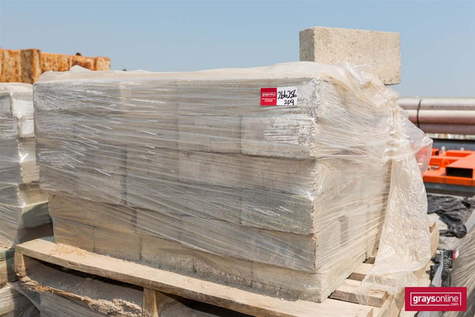 Qty 1 x Pallet x Solid Concrete Bricks Grey colour Ea