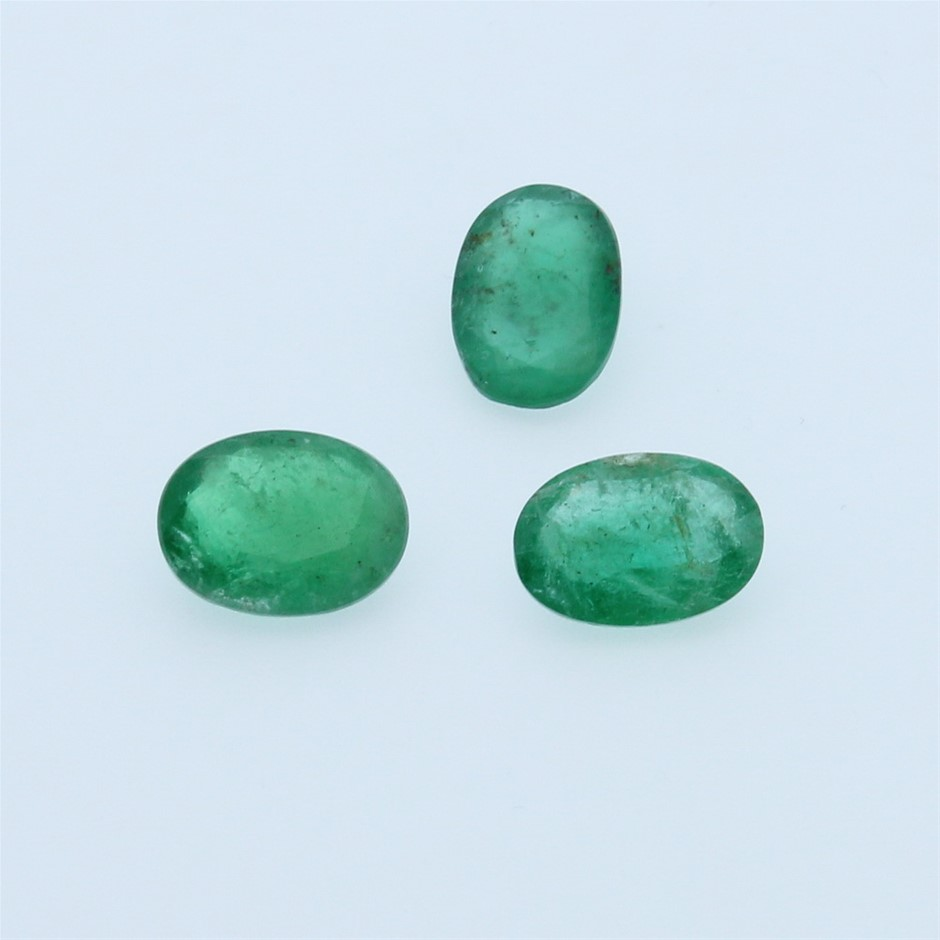 Three Loose Emerald 7.70ct in Total