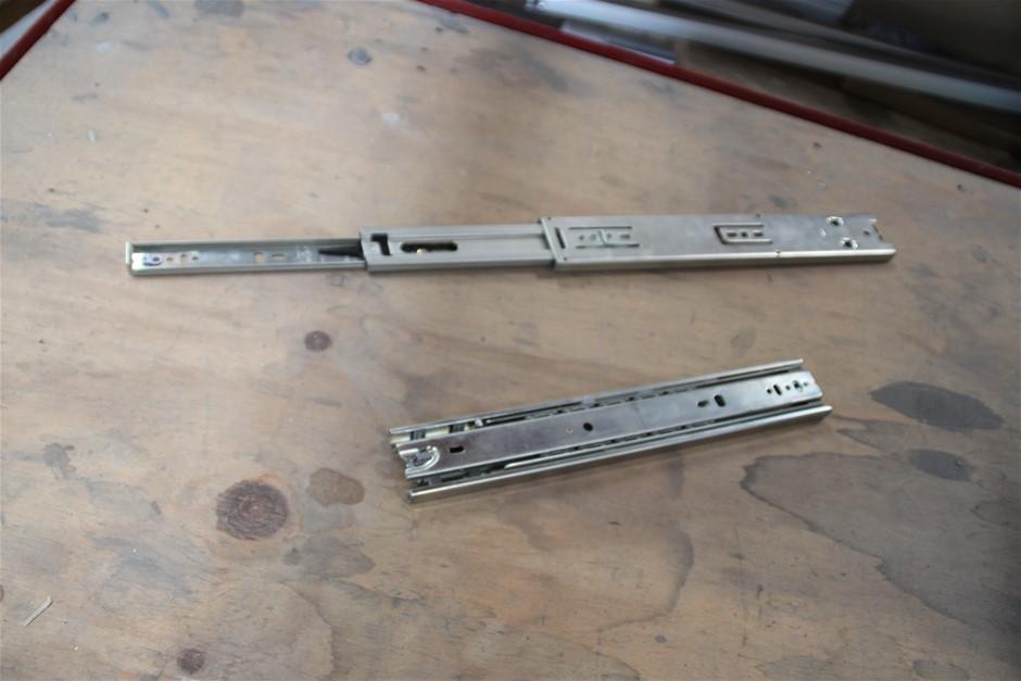 8 x Unused Pair Heavy Duty Ball Drawer Slider Approx: 300mm Col