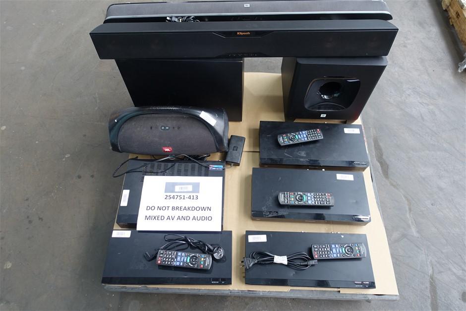 Pallet of Assorted Brand UNTESTED/USED AV Producs