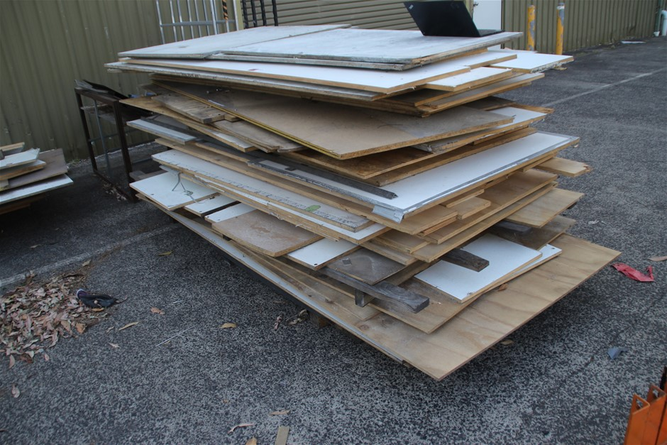 2 x Pallet Of Assorted Timber Board Includes, Full Sheet & Off