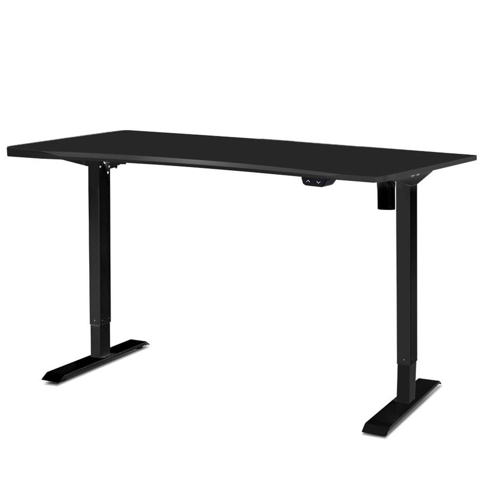 Artiss Roskos Motorised Height Adjustable Standing Desk Table Black