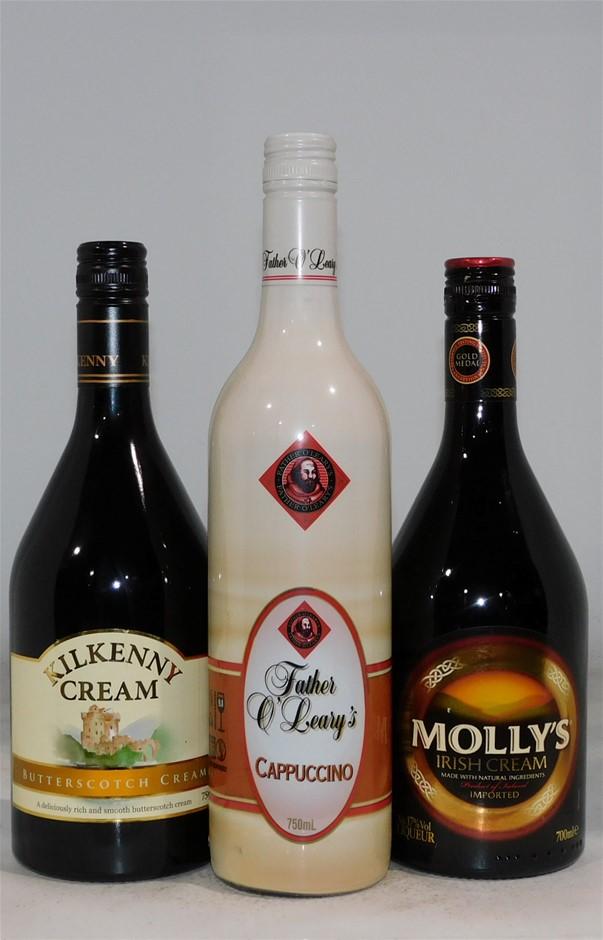 Pack of Assorted Liqueurs (1x 700ml/2 x 750mL)