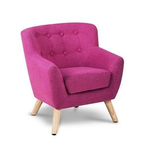Keezi Kids Sofa Armchair Pink Linen Loun