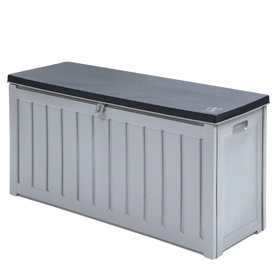 Gardeon Outdoor Storage Box Lockable Bench Seat Garden Deck Toy 240L