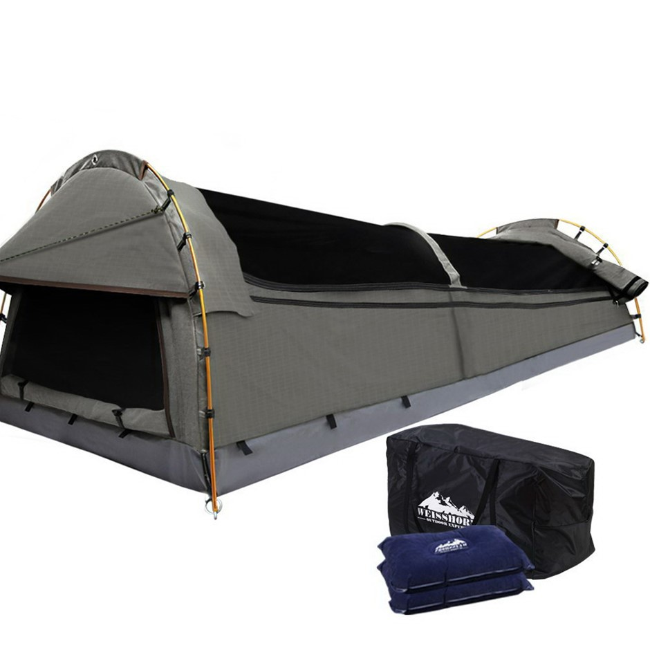 Weisshorn Double Size Canvas Tent- Grey