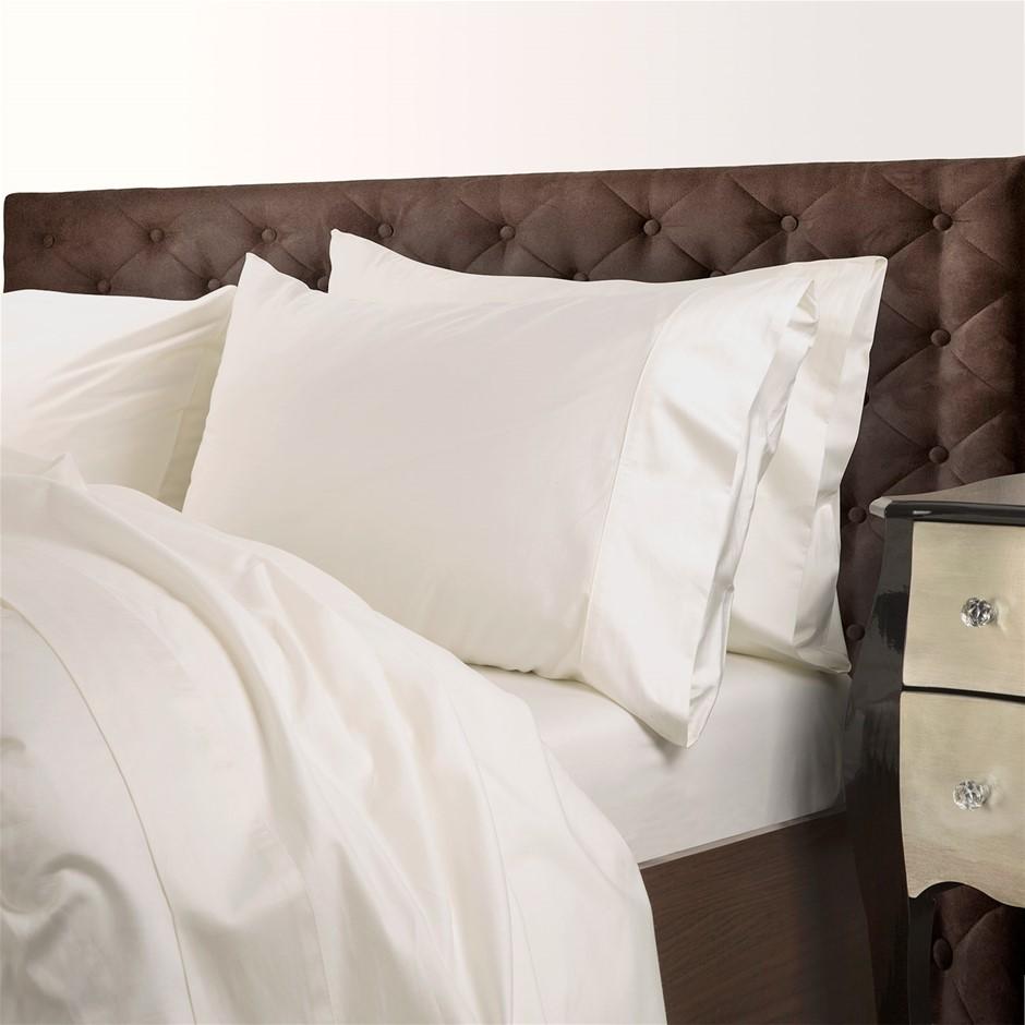Royal Comfort 1000TC Cotton Blend Quilt Cover Sets Queen - Pebble