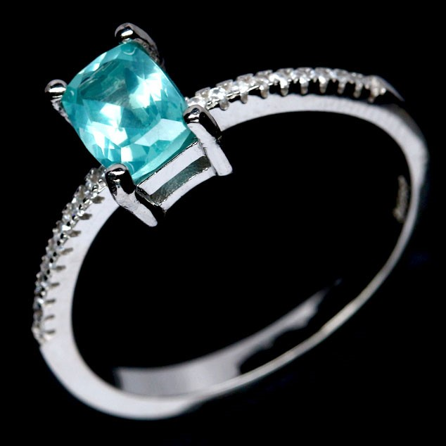 Delightful Genuine Apatite Ring.