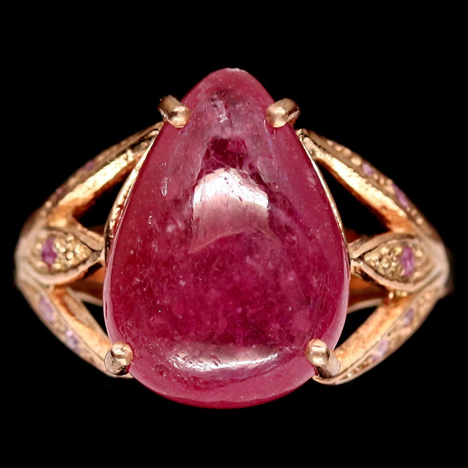 Striking Genuine Ruby & Sapphire Statement Ring