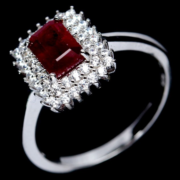 Gorgeous Genuine Blood Red Ruby Ring