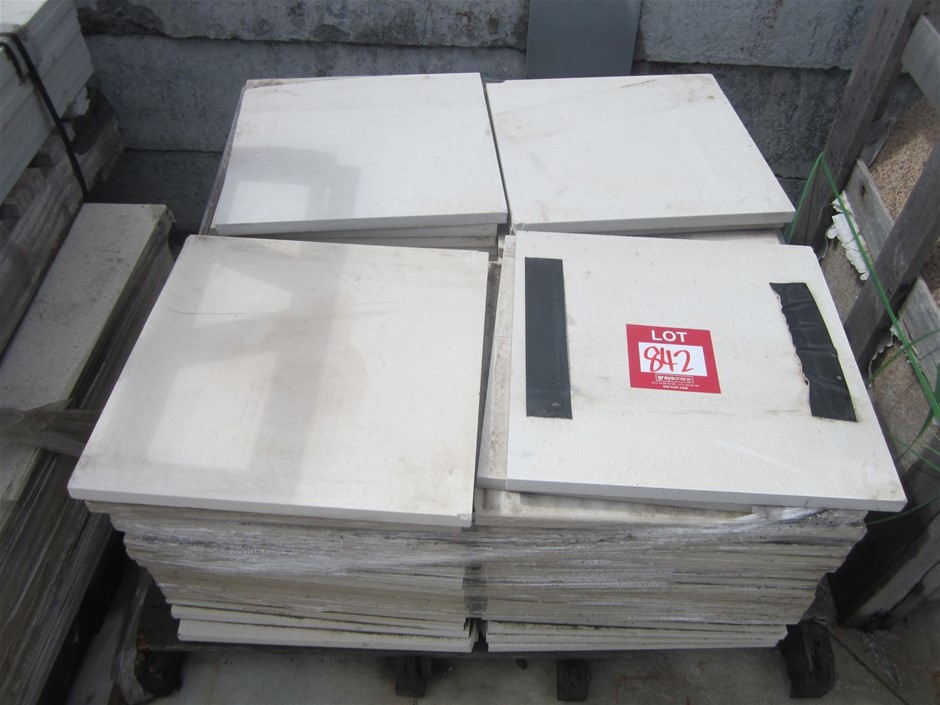 Pallet of Caesarstone Tiles. 400mm x 400mm x 20mm thick. 80 tiles in total.