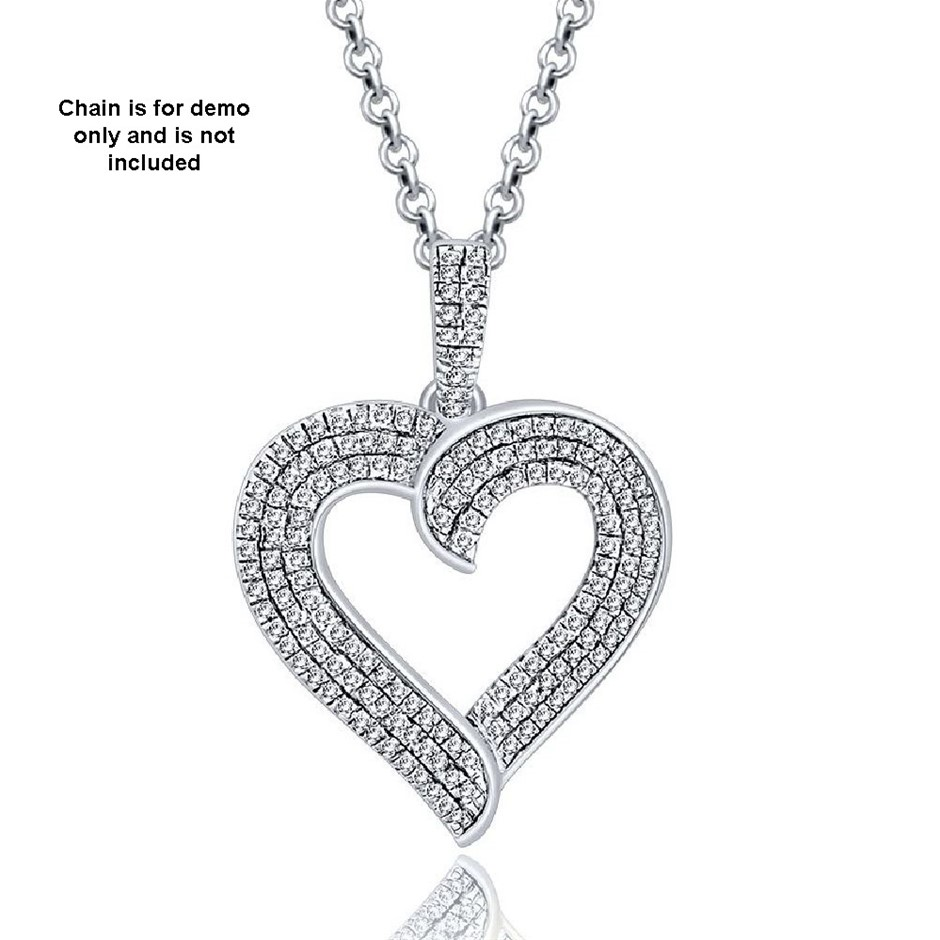 9ct White Gold, 0.26ct Diamond Pendant