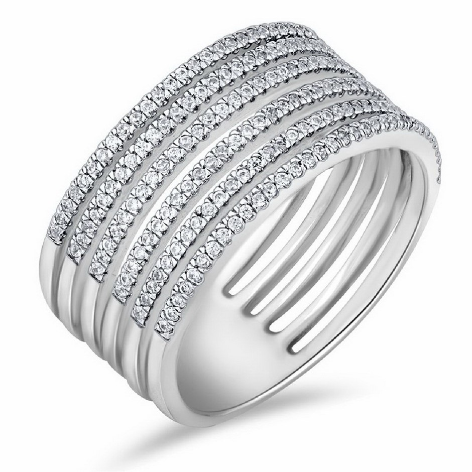 9ct White Gold, 0.31ct Diamond Ring