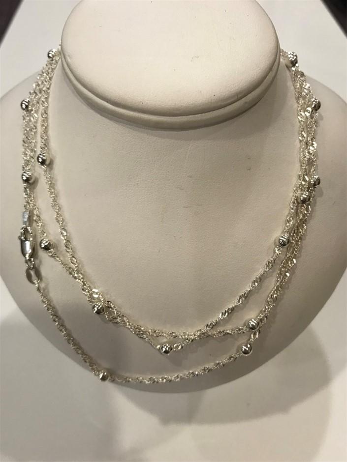 Premium Quality Con Panelli Italian Sterling Silver Chains