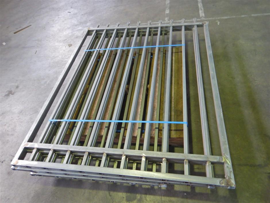 Qty 3 x Galvanised Steel Fencing (Pooraka, SA)