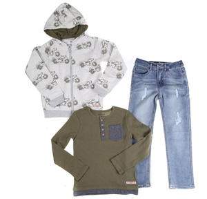 HUDSON Boy`s (Toddlers) 3pc Clothing Set