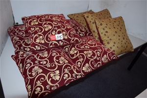 Lot of 8 Assorted Style Throw Cushions