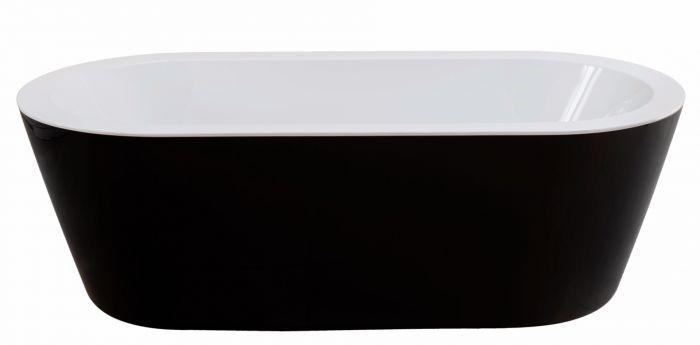 Freestanding Matte Black Bathtub Inc Overflow 1600x800x600 Brand New (8202B
