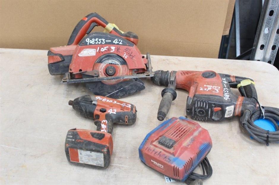 Assortment of Hilti Tools