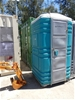 <p>Ex-Hire Portable Toilet, Green/Grey