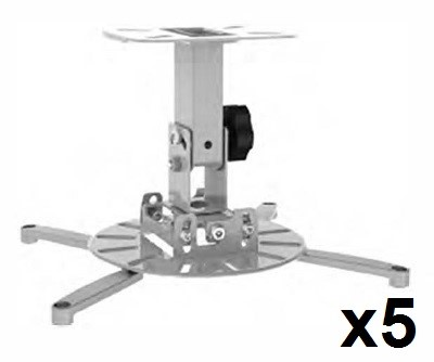 5 x VisionMounts Ceiling Projector Mounts (140mm)