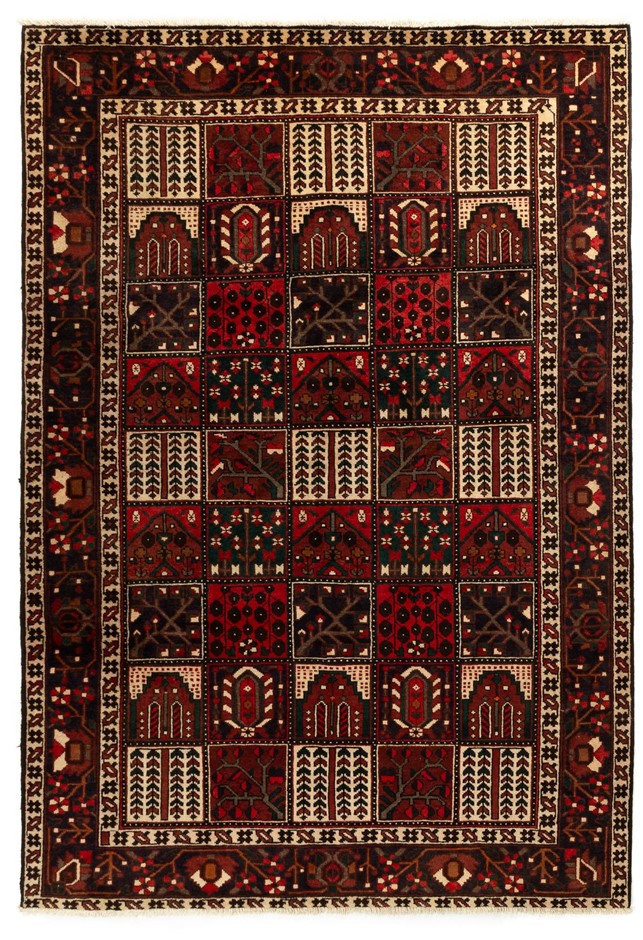 Persian Baktiari Hand Knotted 100% Pure Wool Pile Size (cm): 210 x 310