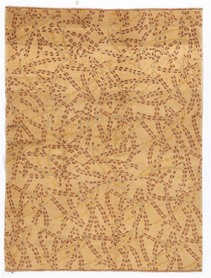 Afghan Gabbeh Stripy Hand Knotted Pure Wool Pile Size (cm): 150 x 200