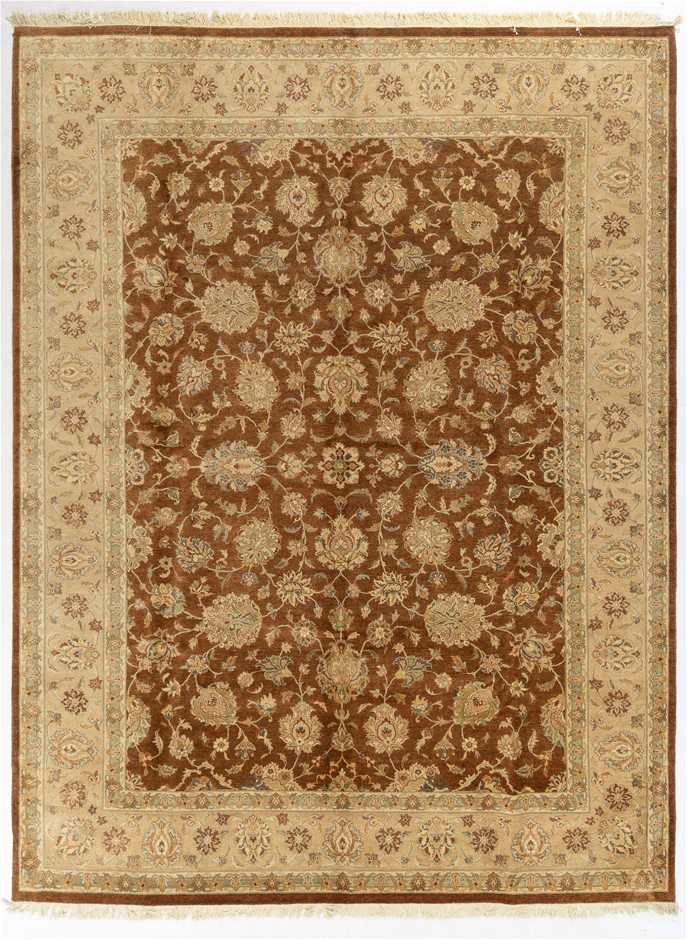 Afghan Hezari Hand Knotted Pure Wool Pile Size (cm): 275 x 375