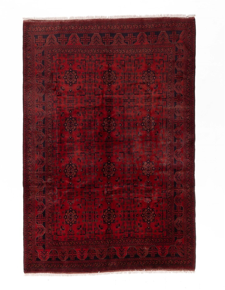 Afghan Khal Mohomadi Tribal Hand Knotted Pure Wool Size (cm): 203 x 298